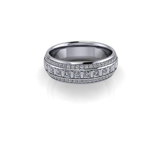 BAR SET PRINCESS DIAMOND BAND RING