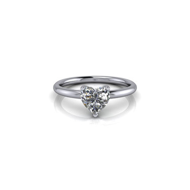 DIAMOND HEART SHAPED SOLITAIRE RING