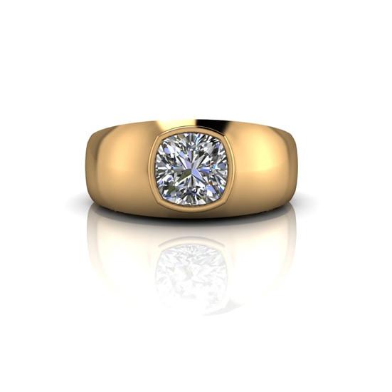 CUSHION-CUT DIAMOND BAND