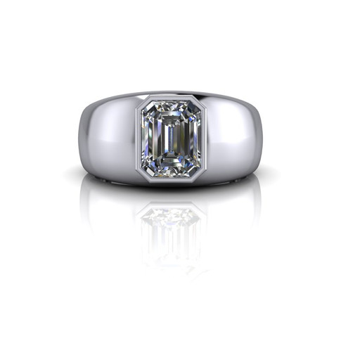 EMERALD-CUT DIAMOND BAND