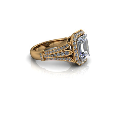 THREE CLAW-SET DIAMOND RING