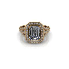 THREE CLAW-SET DIAMOND RING