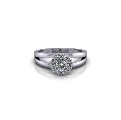 SPLIT BAND DIAMOND ENGAGEMENT RING