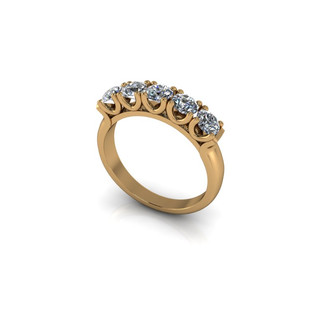 FIVE STONE DIAMOND ETERNITY BAND
