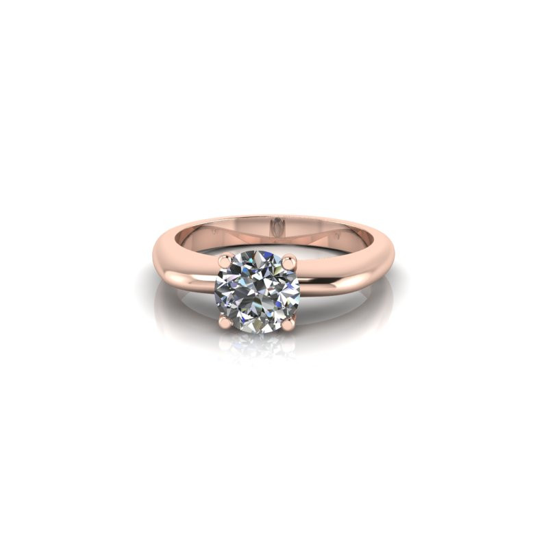 MODERN ROSE GOLD SOLITAIRE RING