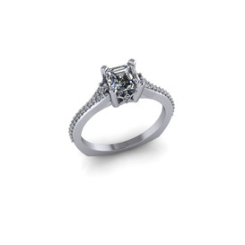 DIAMOND PRINCESS-CUT RING
