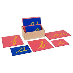 Lower Case Sandpaper Letters w Box - Cur