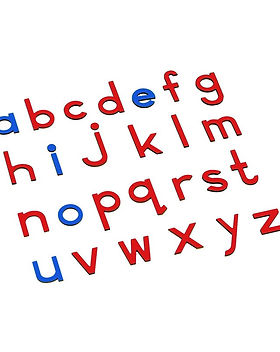 Lowercase Small Movable Alphabet - Blue