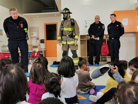 Firefighters visit Montessori Works School