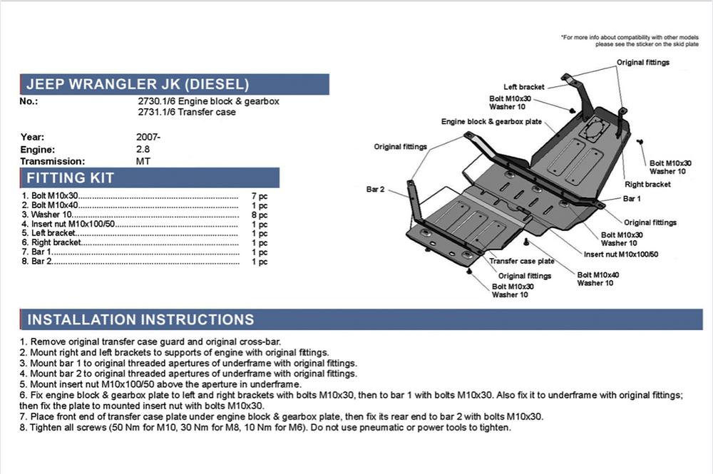 comment monter un blindage moteur sur une Jeep