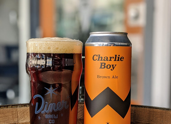 Charlie Boy Brown Ale 16oz Can 4 Pack