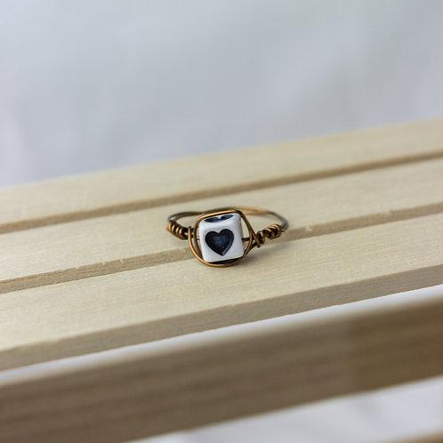 """""""THIS BLACK HEART"""" RING"""