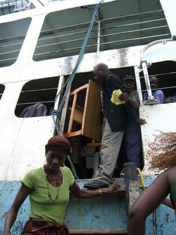 Disembarking Ilala