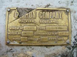 Ilala: brass plaque
