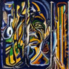 Eugene Power_portrait_ African_ colourful_ surrealist