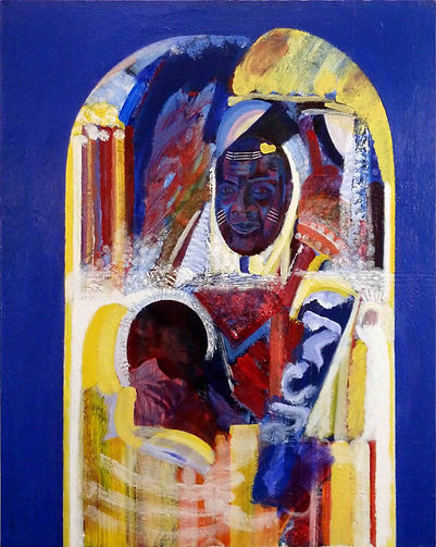 eugene power_portrait_icon_painting_colourful_surrealist_expressionist_african_