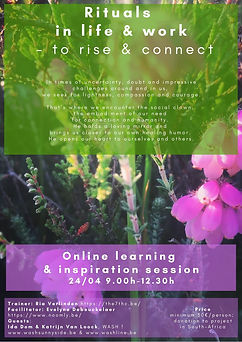 Rituals - rise and connect - flyer 2021