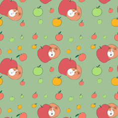 guinea pig apple pattern