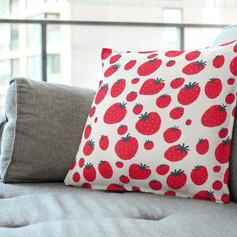 red strawberry pattern