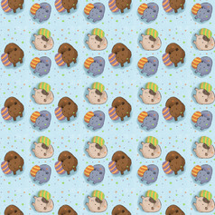 guinea pig blue egg pattern