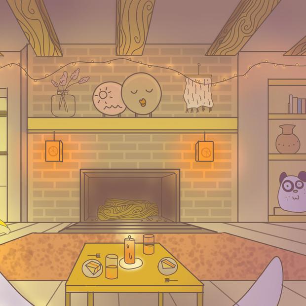 Orange Blushing Cottage (Interior)