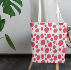 pink strawberry pattern
