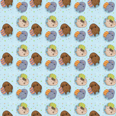 guinea pig blue egg pattern