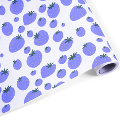 blue strawberry pattern