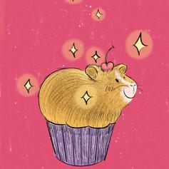 guinea pig cupcake