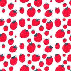 red strawberry pattern