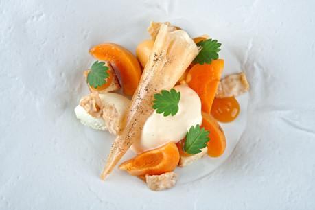 abricot, amandes, thym, nougatine ©luc v