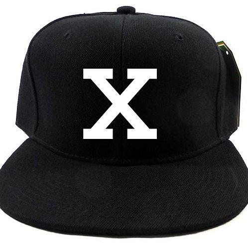 White on Black X Snapback Cap
