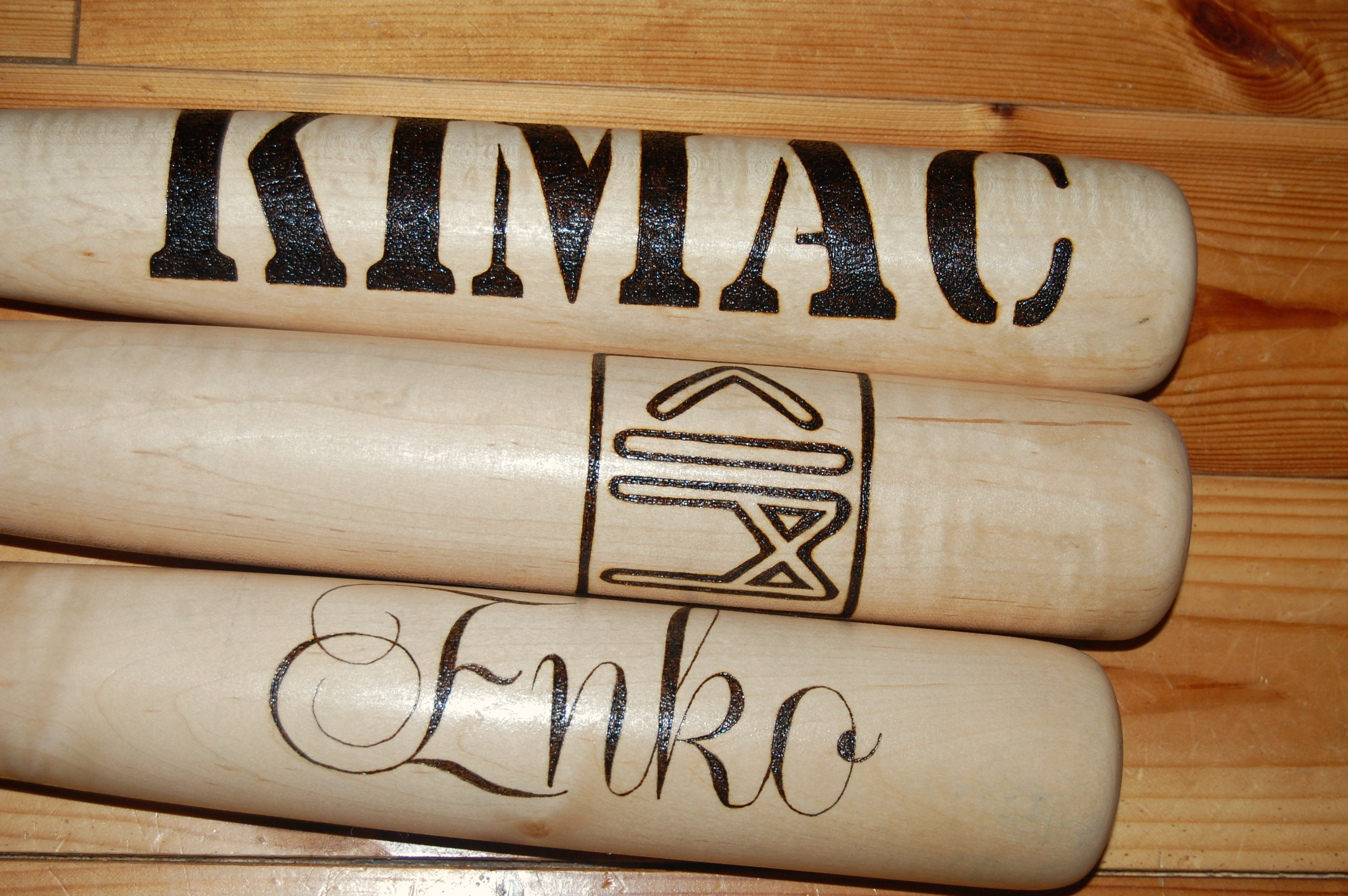 Decorative baseball bats