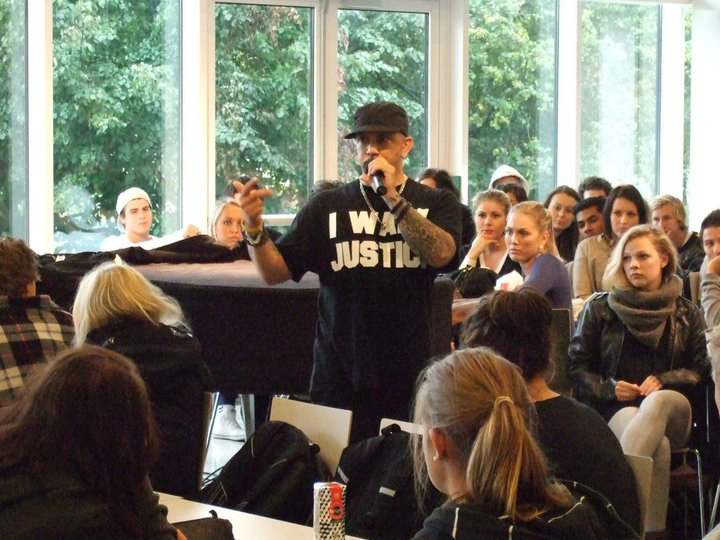 Speaking in Kristiansand, Norway HS