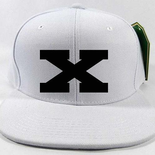 Black on White X Snapback Cap