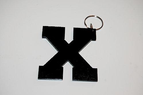 Black X keychain