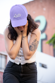 dad-hat-mockup-featuring-a-smiling-woman