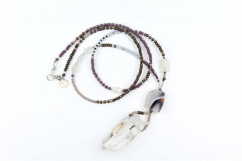 Garden Quartz Raw Gemstone Necklace