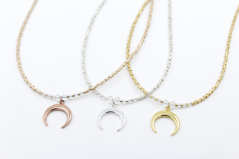 Crescent Moon Minimalist Necklace