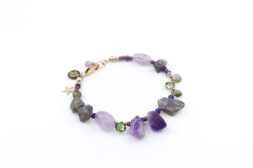 Amethyst & Labradorite Moontide Bracelet