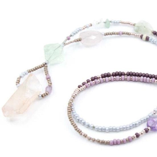 Rose Quartz Raw Gemstone Necklace
