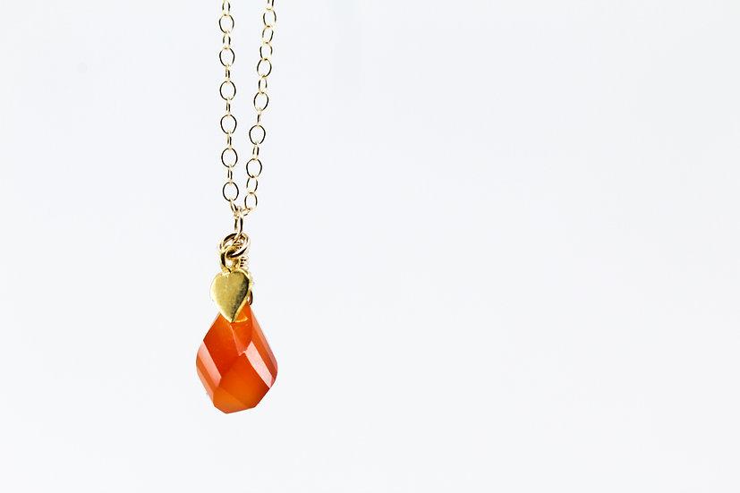 Autumn Inspired - Carnelian Gemstone Necklace