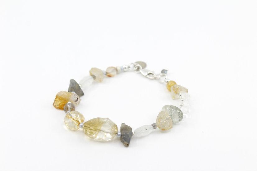Citrine & Labradorite Moontide Bracelet