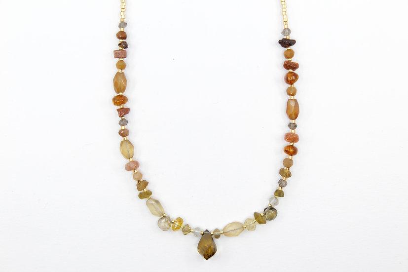 Autumn Inspired - Citrine Ombre Gemstone Necklace