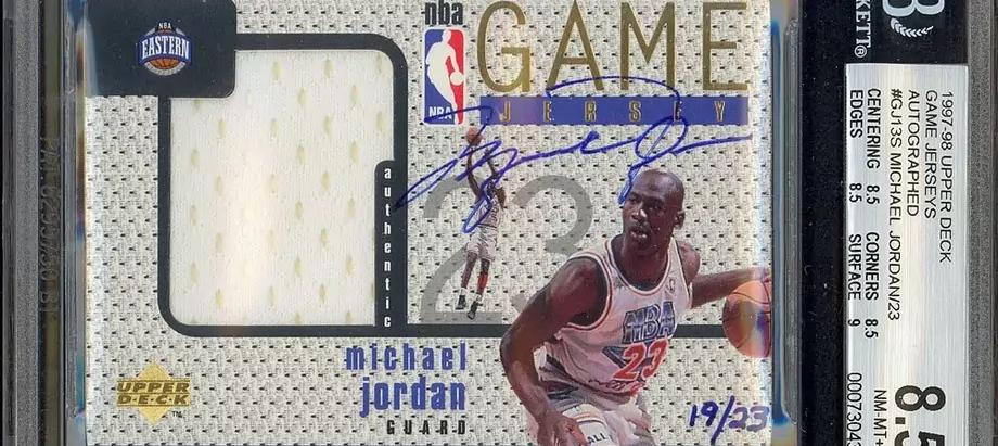 Автограф Майкла Джордана был продан на аукционе Heritage за 1,44 млн долларов