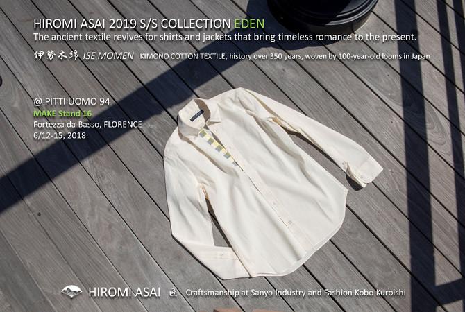 """HIROMI ASAI 19SS Collection """"Eden"""", Made of  Premium Kimono Cotton, Ise Momen"""
