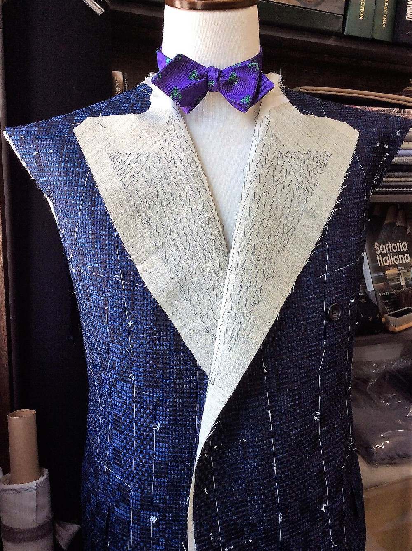 Jacket British Style, Made of Kimono Silk textile, HIROMI ASAI 19AW Collection