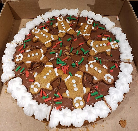 Gingerbread Cookie Pizza