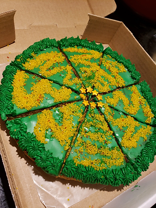 Holiday Tree Cookie Pizza