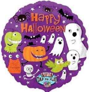 "28"" Happy Halloween Singing Balloon"